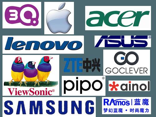ремонт планшетов бренды